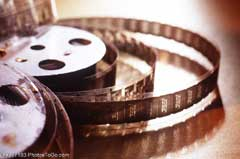 A film reel; Size=240 pixels wide